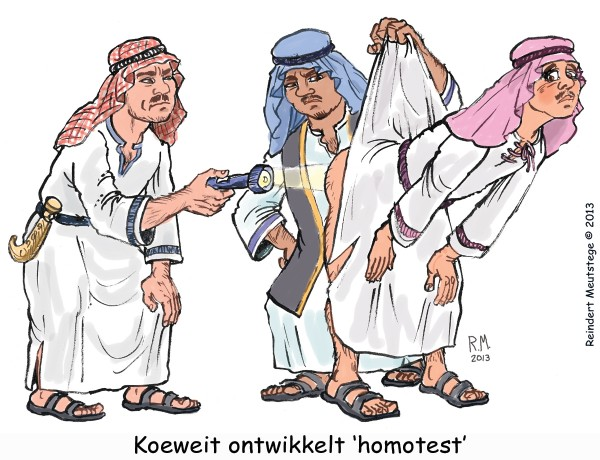 Cartoon Koeweitse homotest